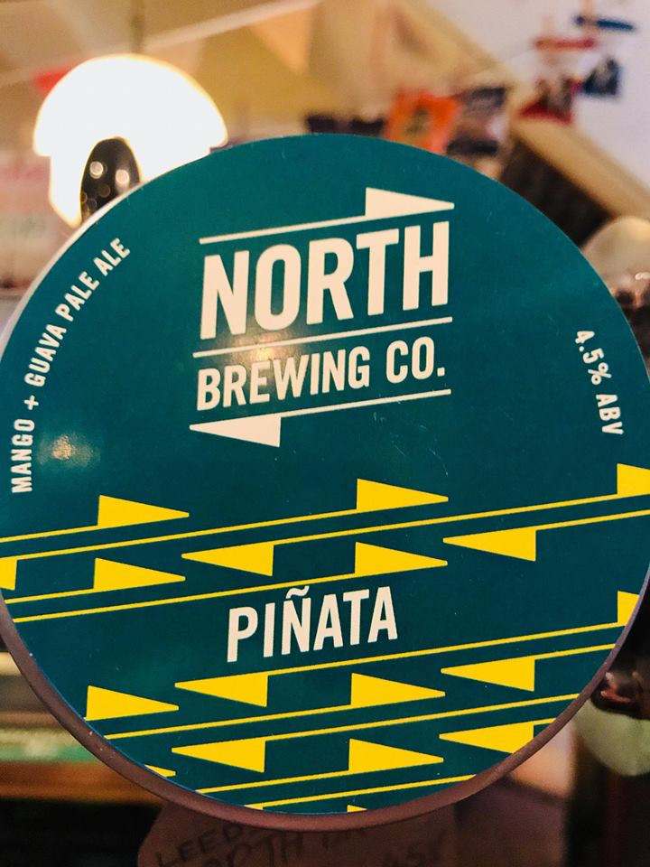 Club Tropicana, drinks are freeeeeeeee... Well maybe not in price but we're certainly feeling the exotic nature of this beauty... Mangos, Guavas, Mandarins and Grapefruits are all hiding in this puncyh pint of zesty dreams... What's not to love about Pinata from North Brewing Co.