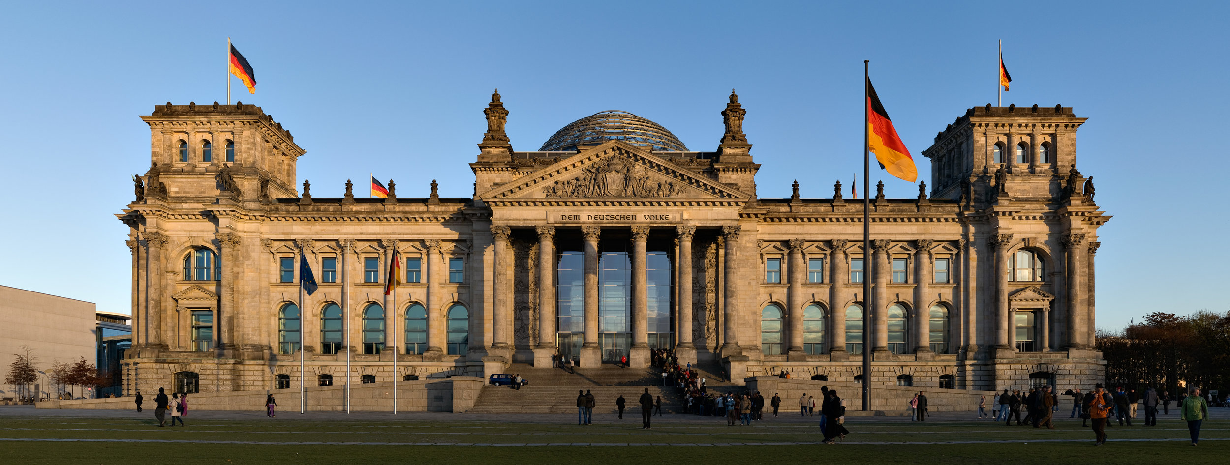 """The Reichstag, """"a symbol of a new era in German politics"""""""