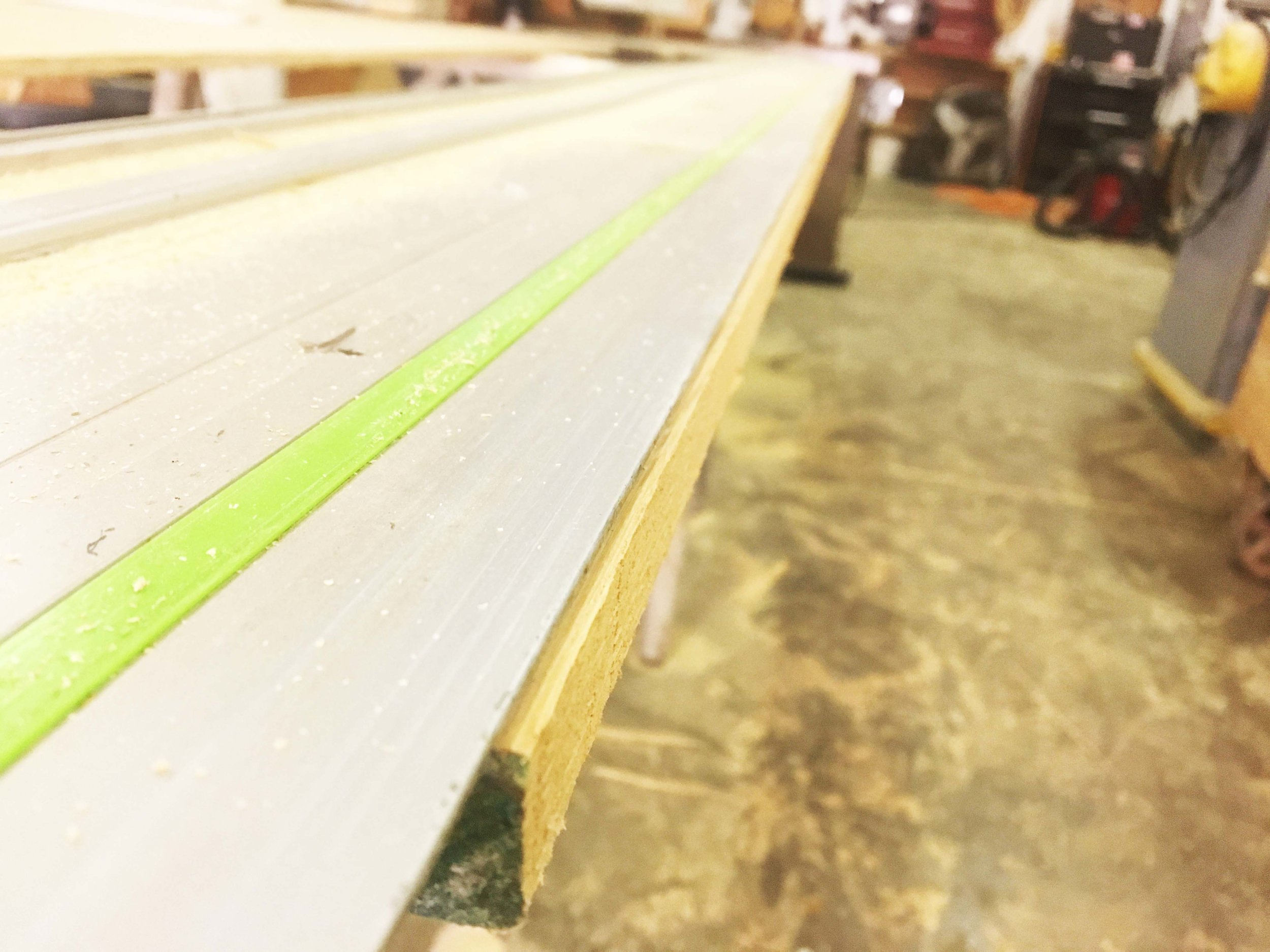 Before the Festool track saw, a raw edge