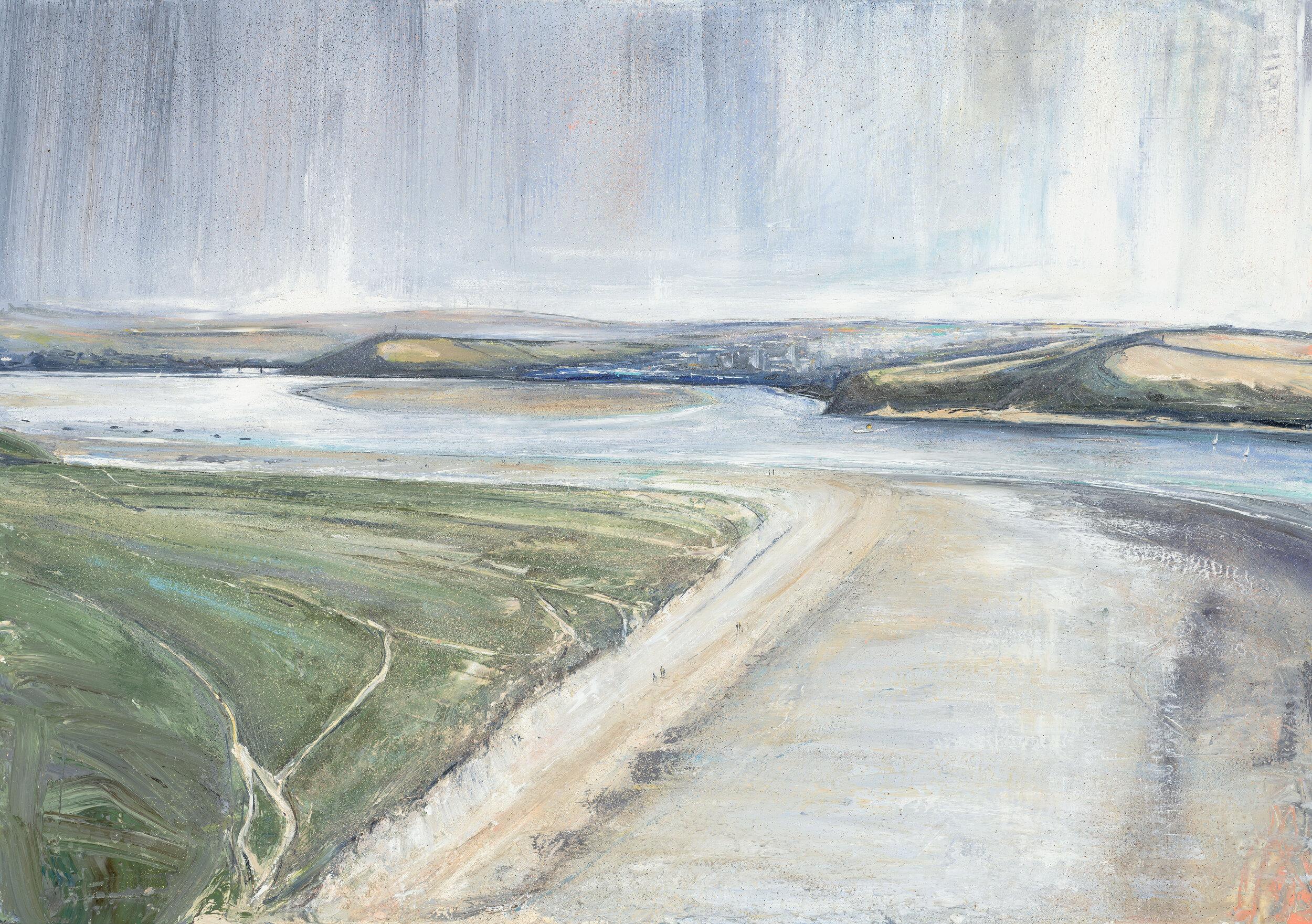 Jethro Jackson Looking Down from Brea Hill  Oil on Board  100 x 70cm  £4895.00