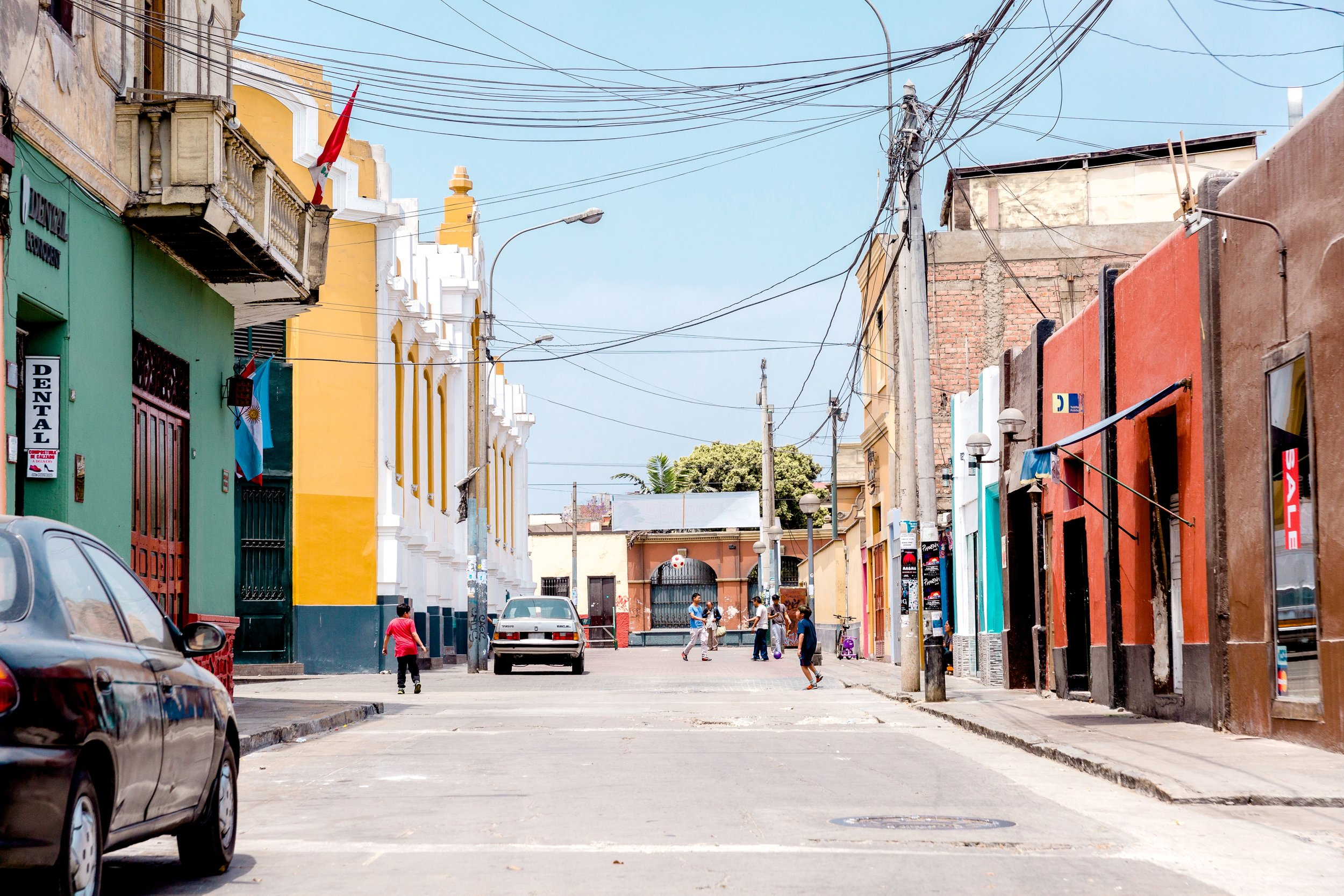 Colorful streets of Lima