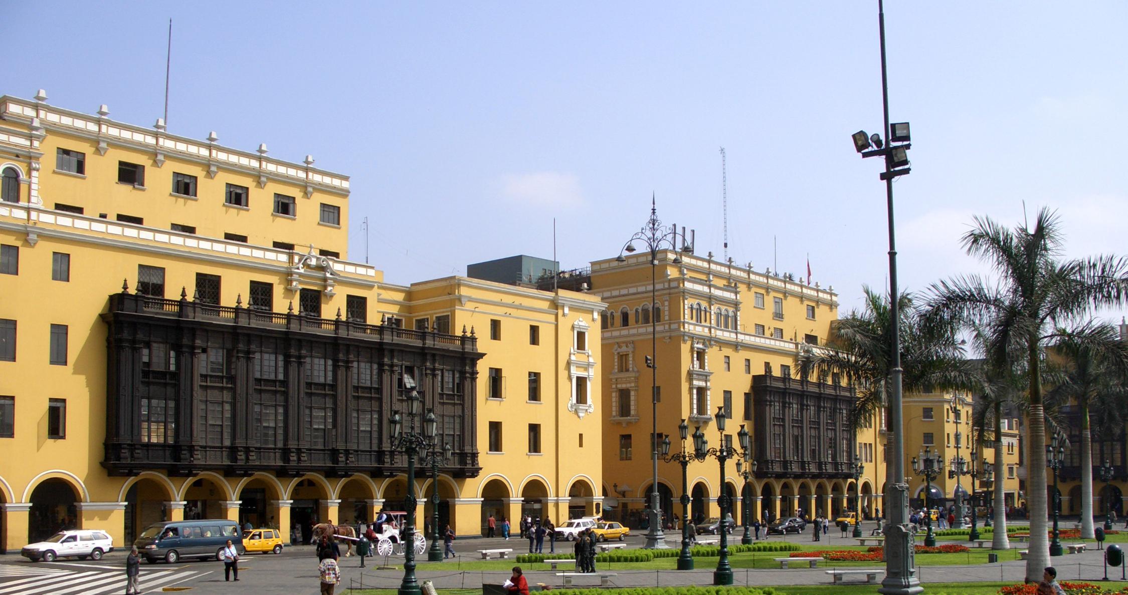 Colonial Plaza Mayor of Lima