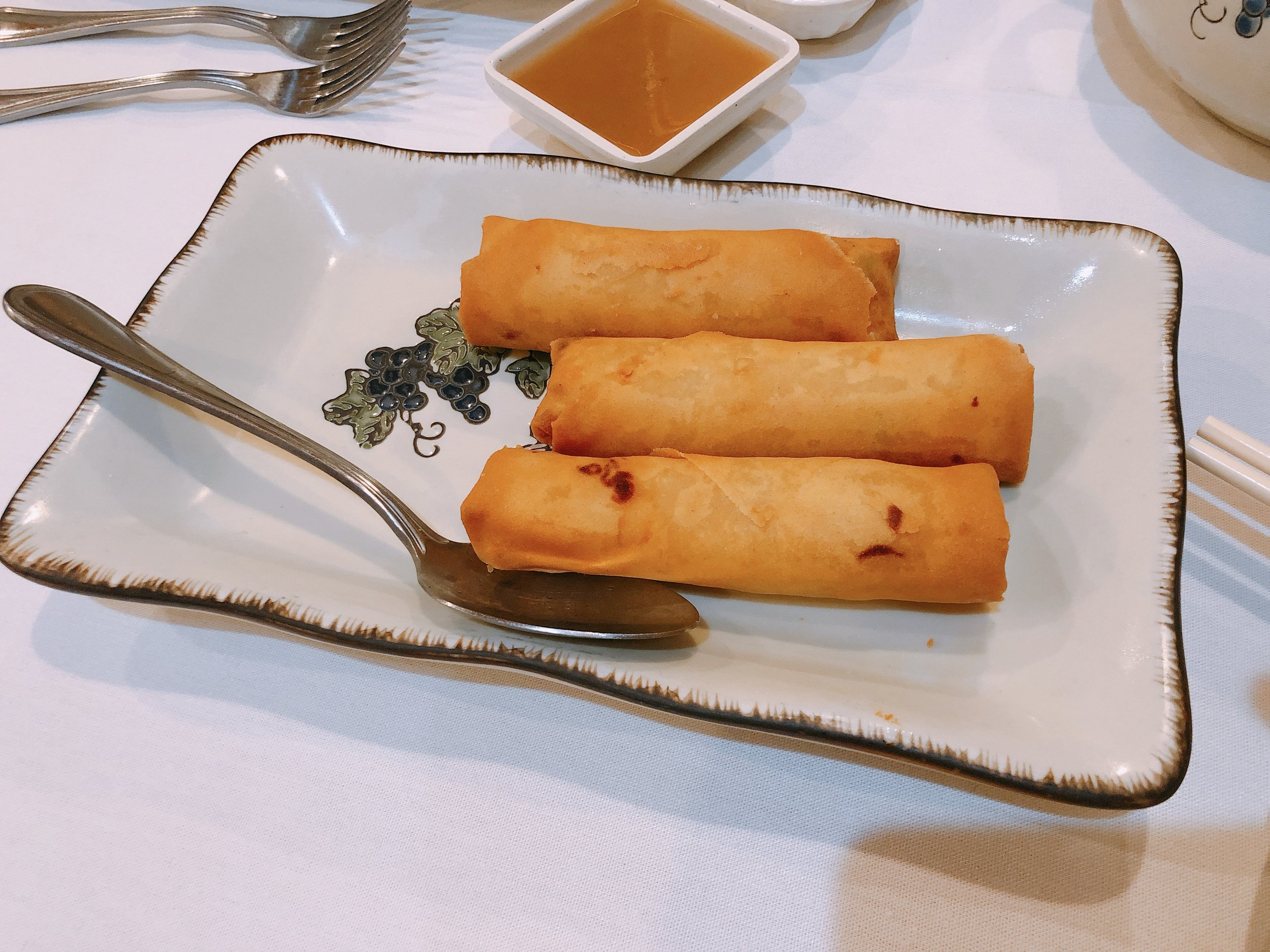 Spring rolls, one of my favorite American Chinese dishes!