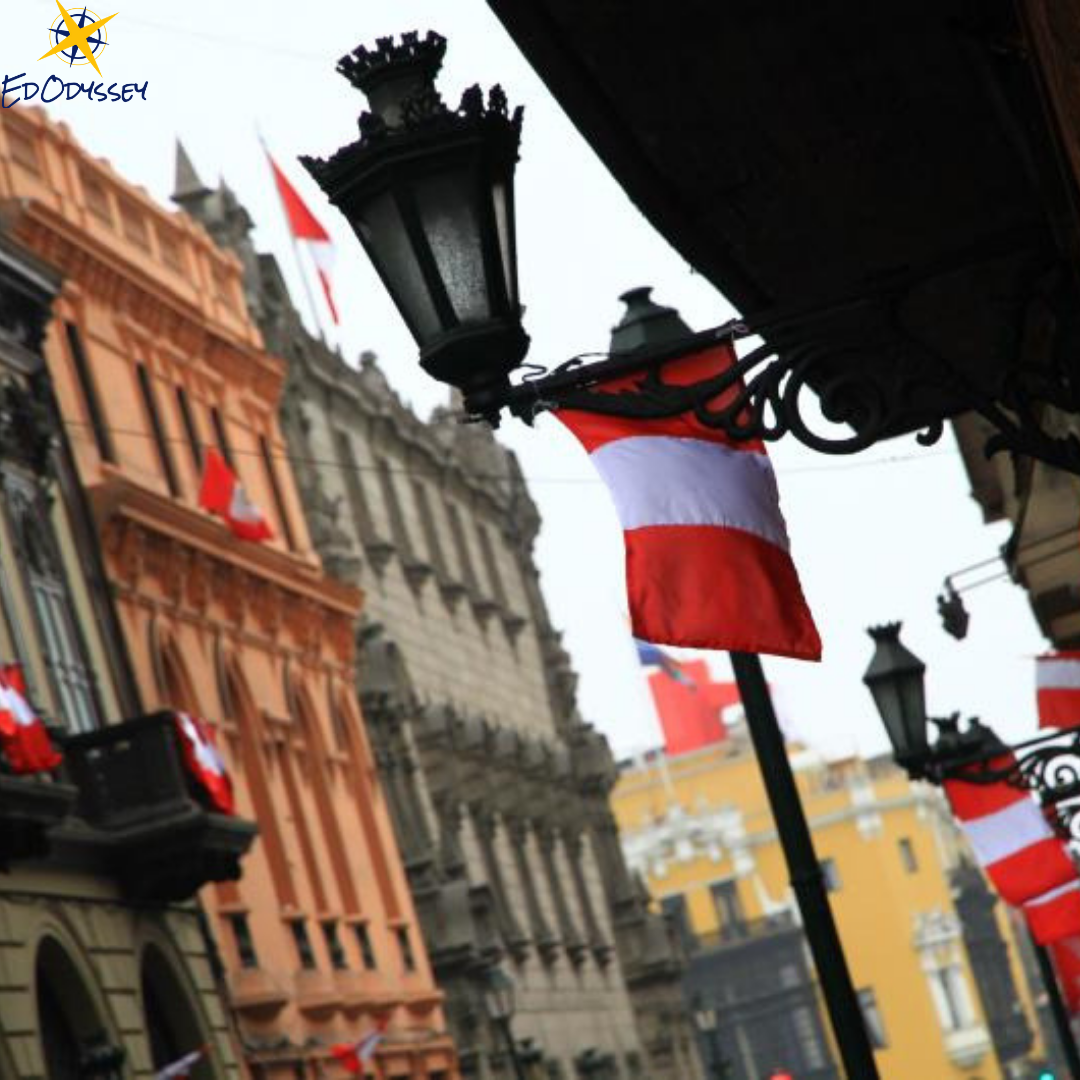 Fun Fact: All street-facing businesses and houses need to have a flag outside during July in Peru!