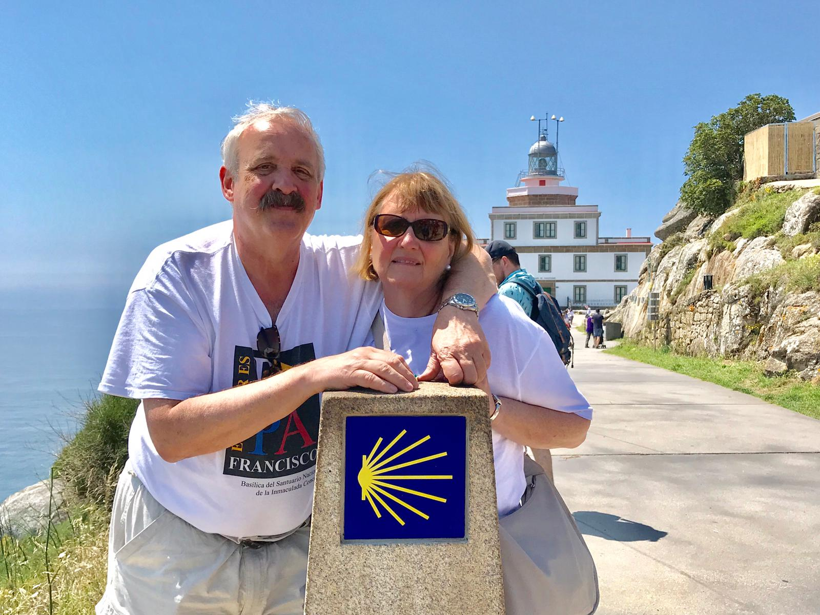 Greg and his wife enjoying a sunny day at Fisterra, which is an hour and a half away from Santiago de Compostela, Spain.