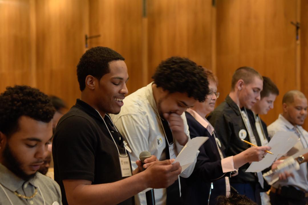 YouthBuild Allentown reciting their program pledge