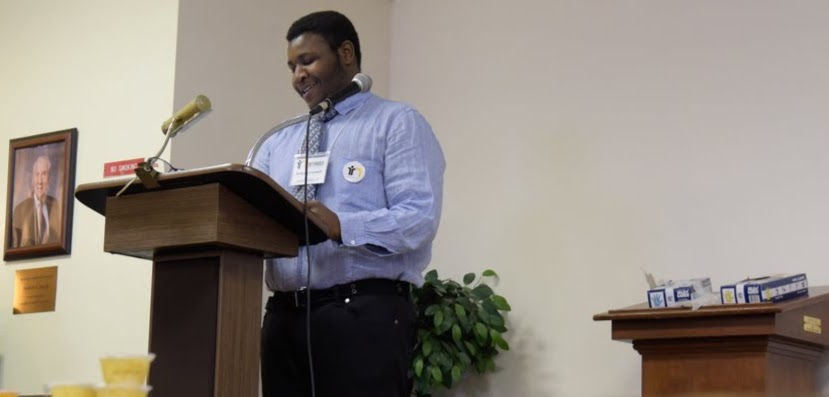 Andreis Foxwell (Philly) reading a poem he wrote