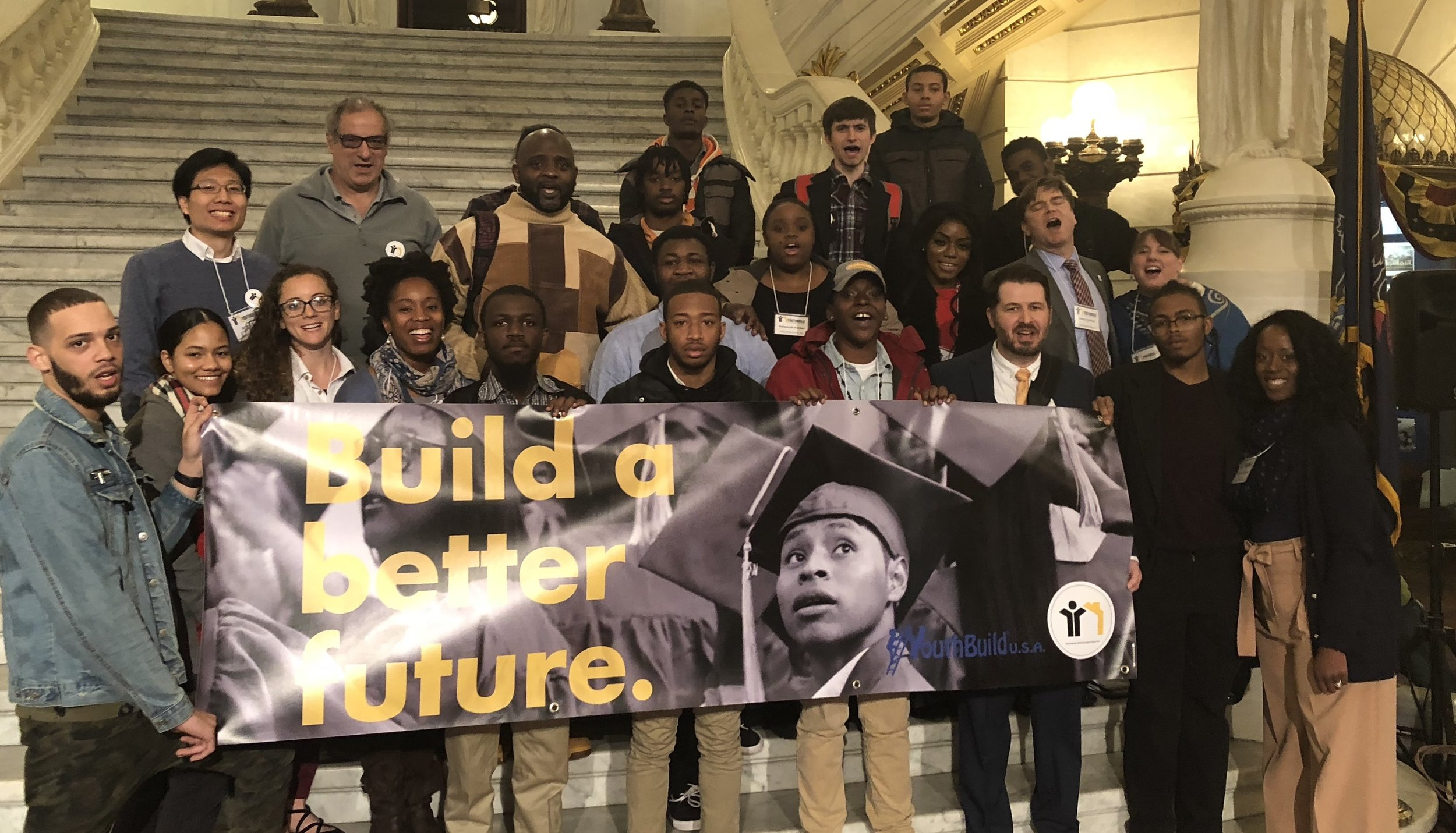 The YouthBuild Philly contingent