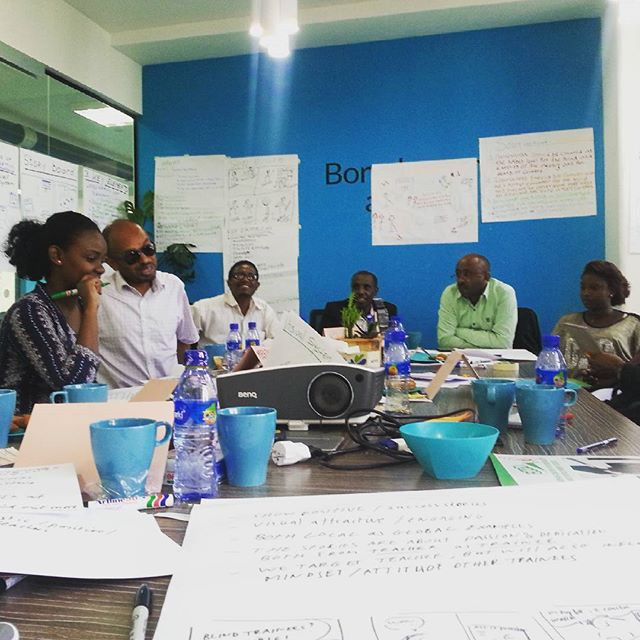 Day 2 of our design sprint. Generating ideas to empower teachers of vocational training centers to include blind people in their trainings #bluemoon #designsprint #inclusion #sociallab #ethiopia #lftw