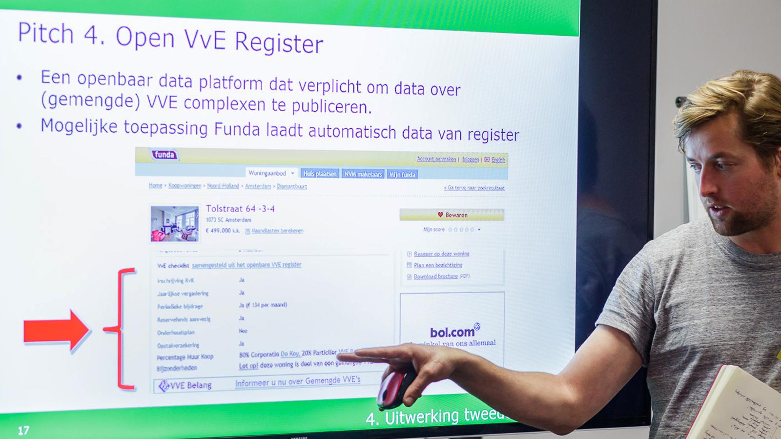 protoype van een open VVE register op funda