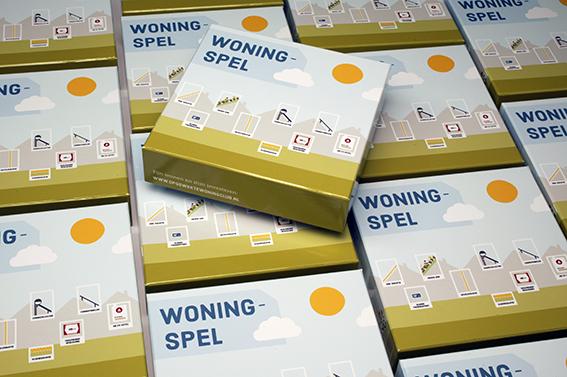 Het woning spel is in geproduceerd voor tien gemeentes