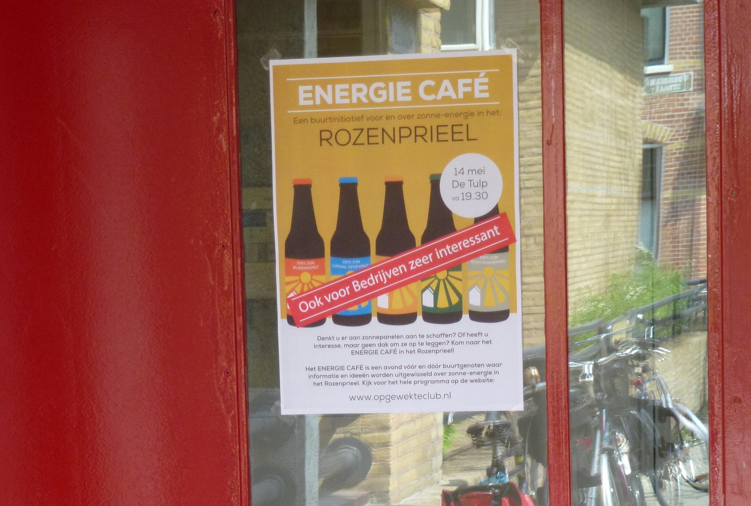 aankondiging energie cafe
