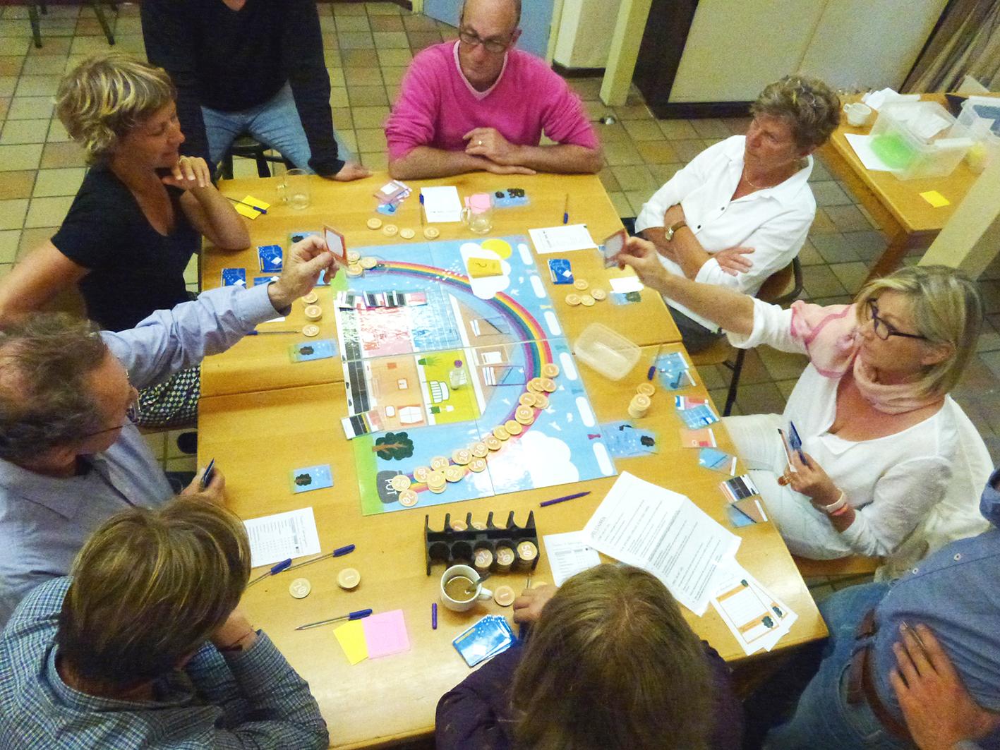 buurt inkoop organiseren door het spelen van het woning spel