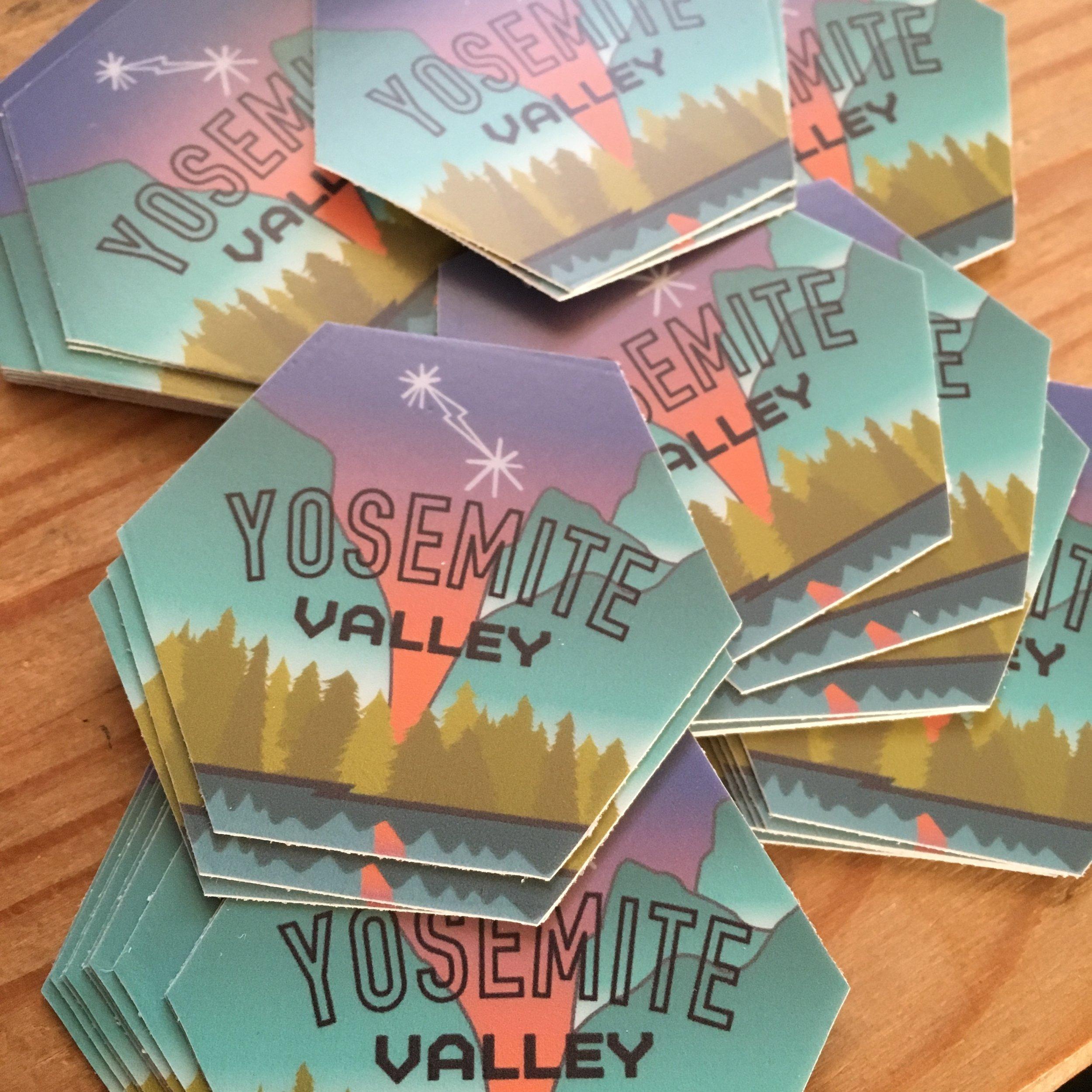 Yosemite Valley Climbing Stickers