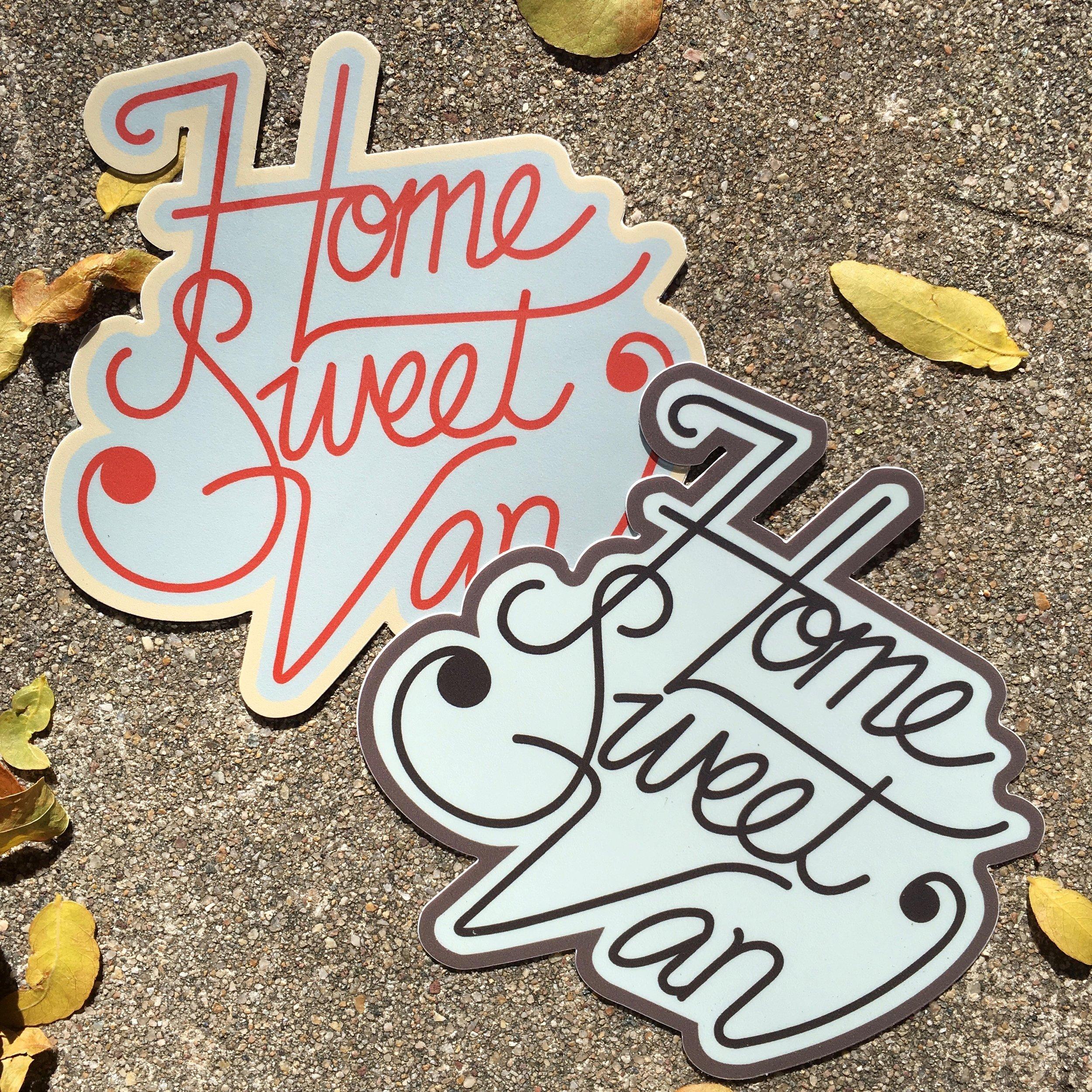 Home Sweet Van Stickers