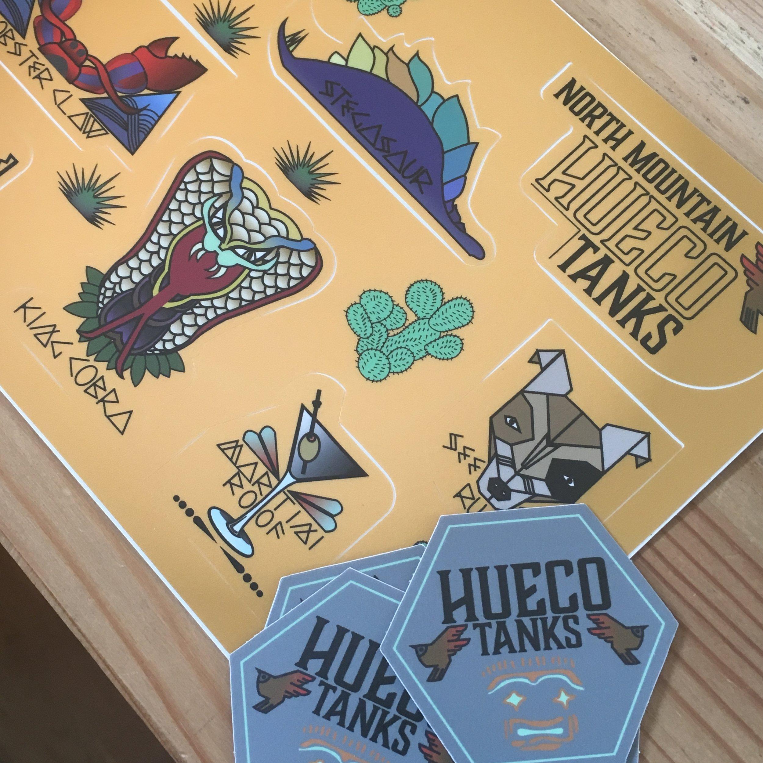 Hueco Tanks climbing stickers