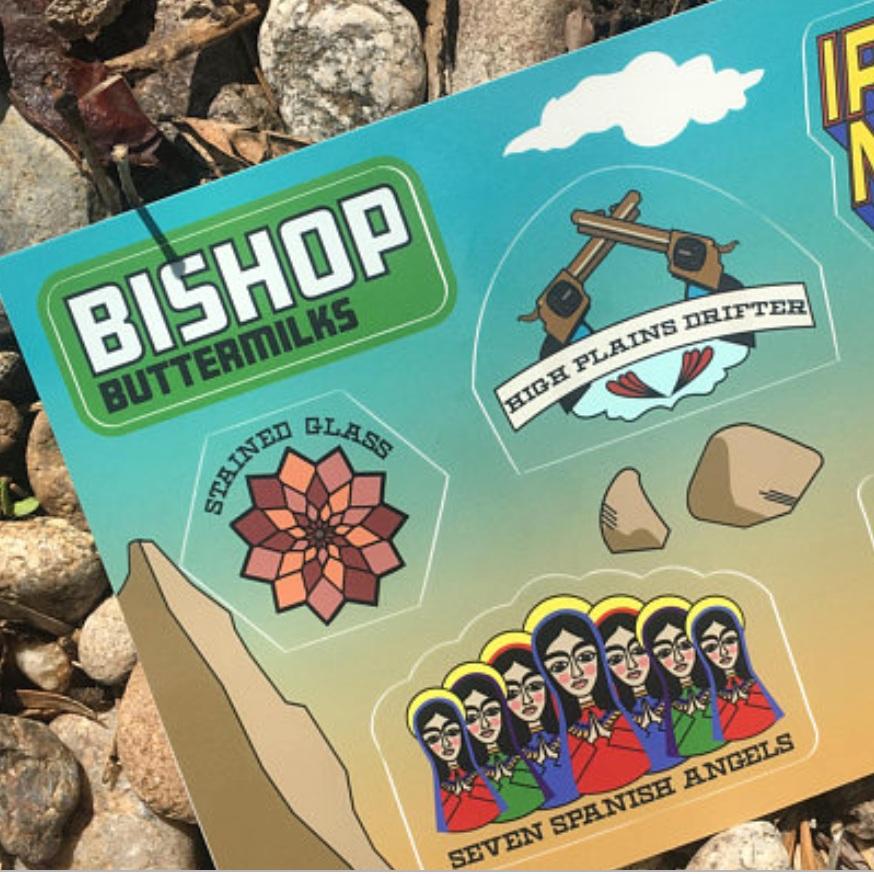 Sticker sheet of Bishop bouldering