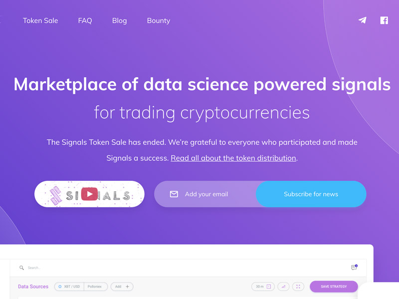 Signals Network - Building a futuristic marketplace to help you discover, create and monetize cryptocurrency trading strategies driven by data science.