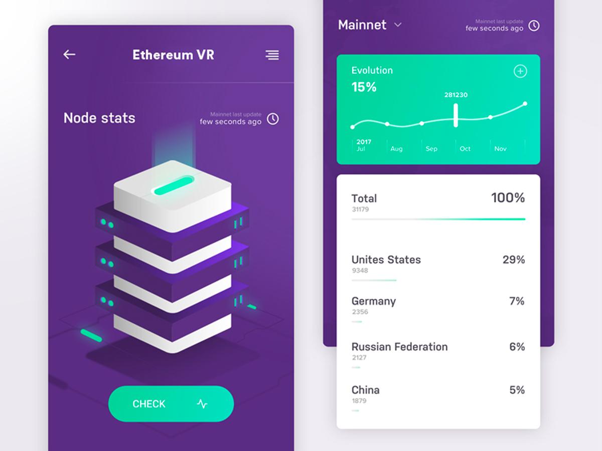 ETHEREUM VR - Design & digital support for a VR technology based on Ethereum technology.