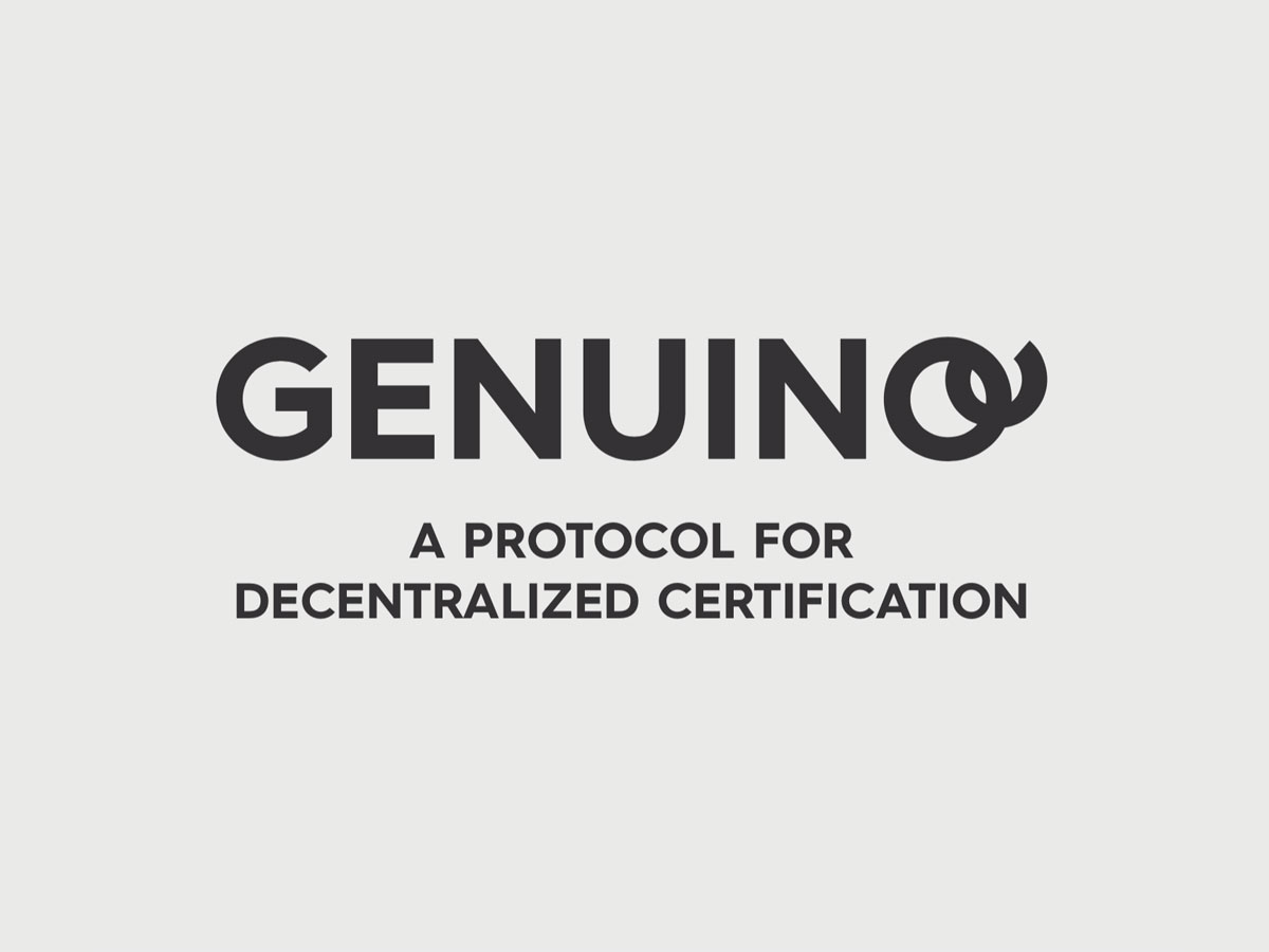 Genuino ICO - A protocol for decentralised certification of supply blockchain of the future. Genuino is the first italian startup based on IOTA tehcnlogy.