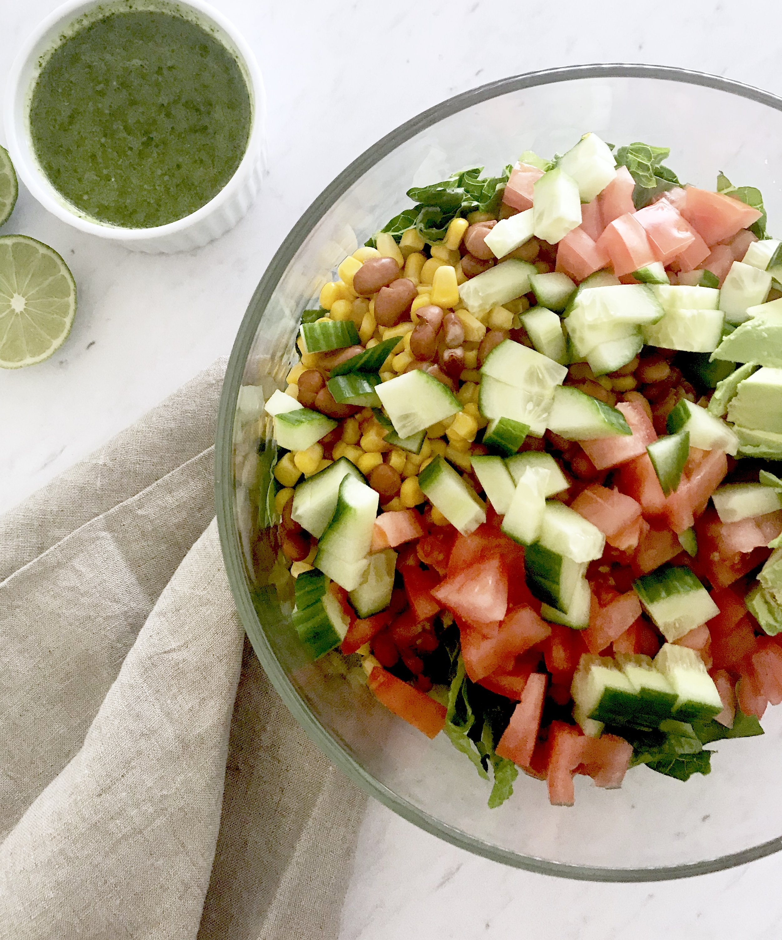 Taco Salad with Cilantro Lime Dressing