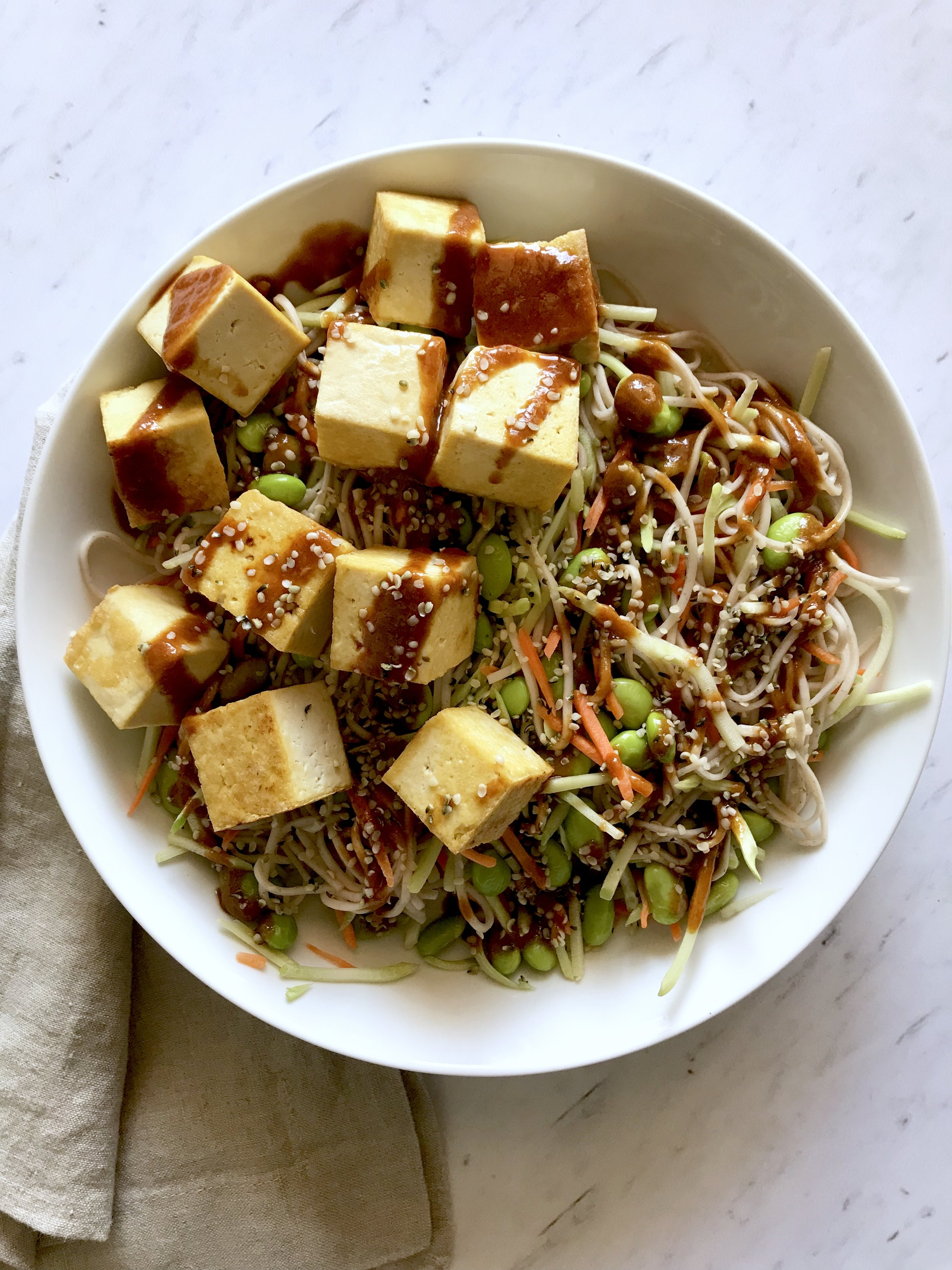 Tofu Soba Noodle Bowl