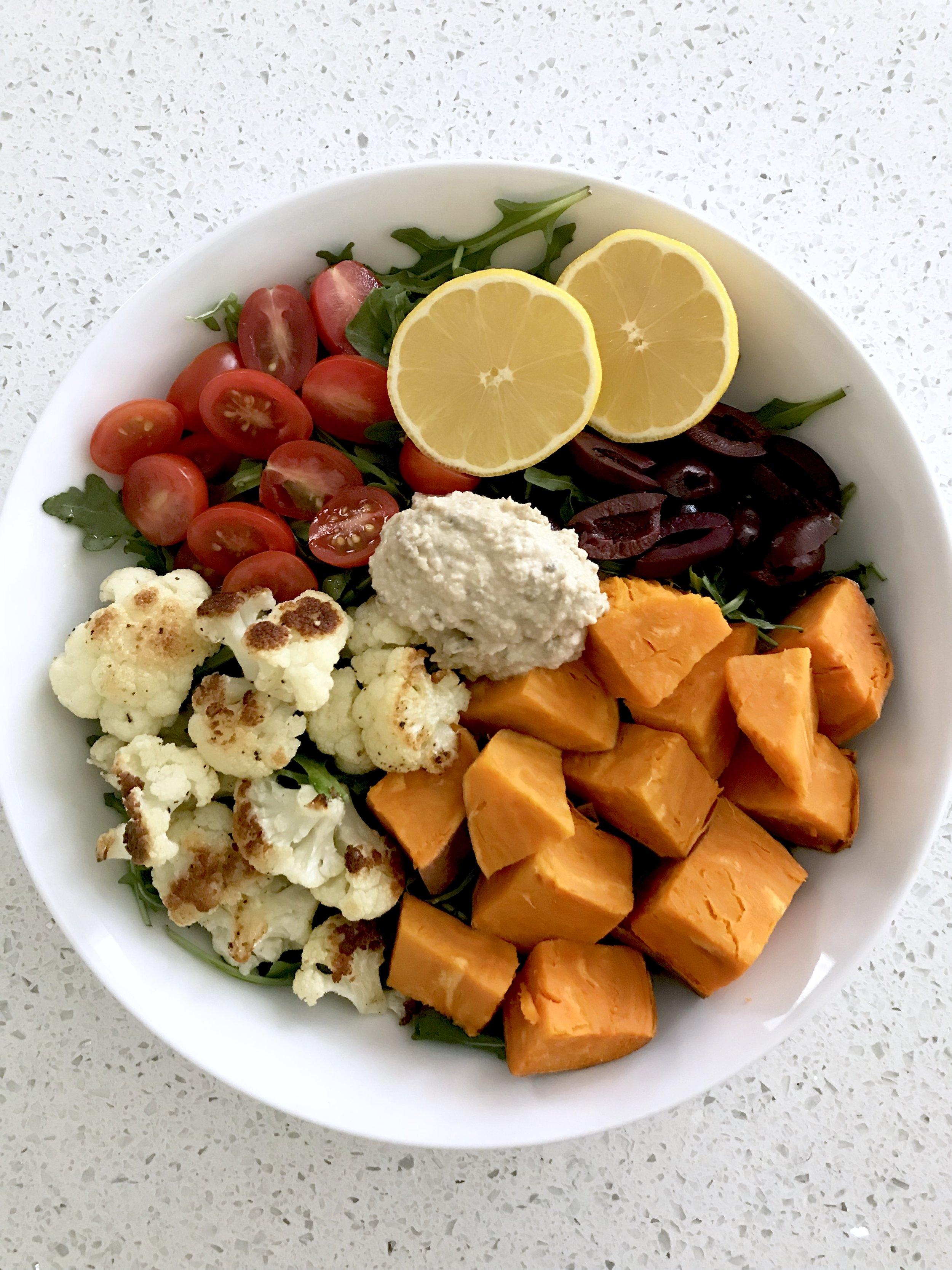 Mediterranean Sweet Potato Bowl