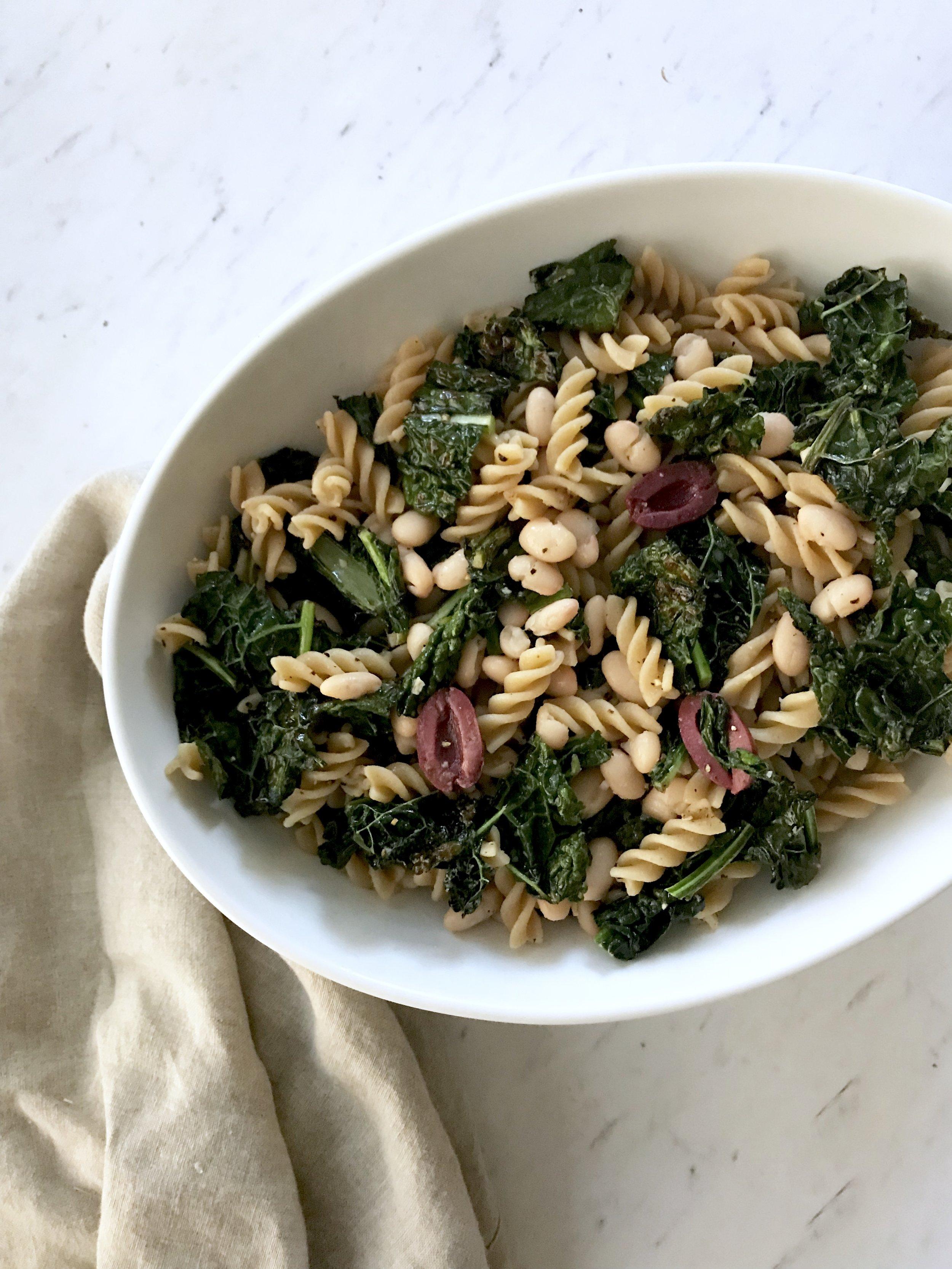 Lemon Kale Pasta (Vegan)