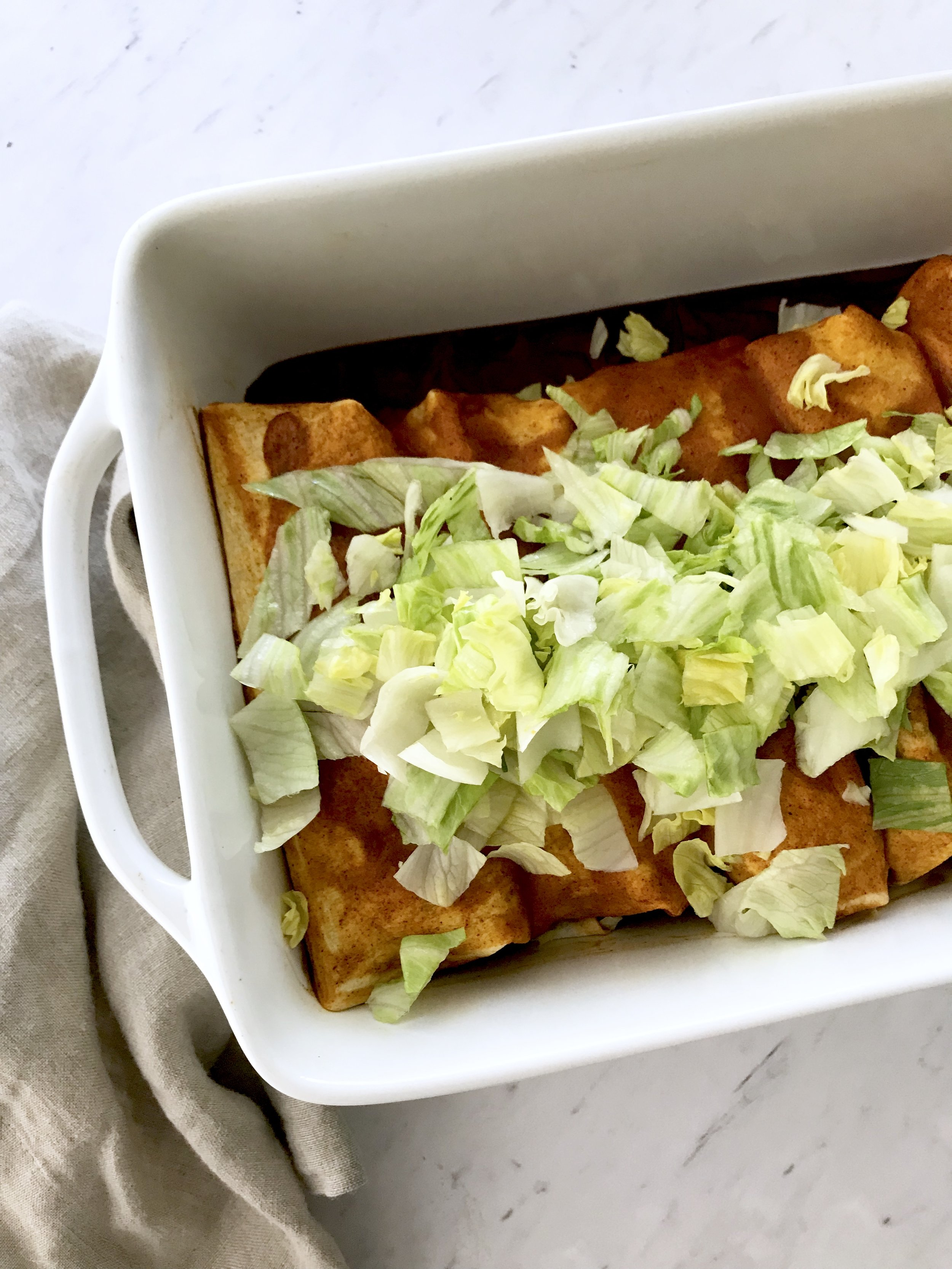 Sweet Potato Black Bean Enchiladas (vegan)
