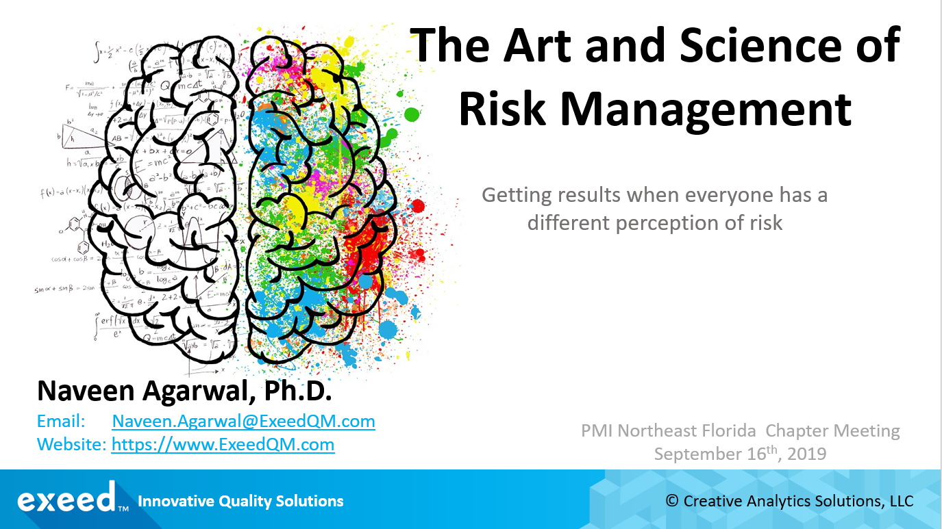 The Art and Science of Risk Management