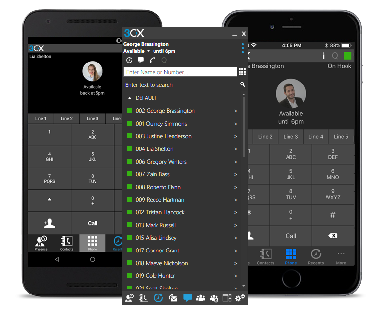 Android and iPhone Windows Client