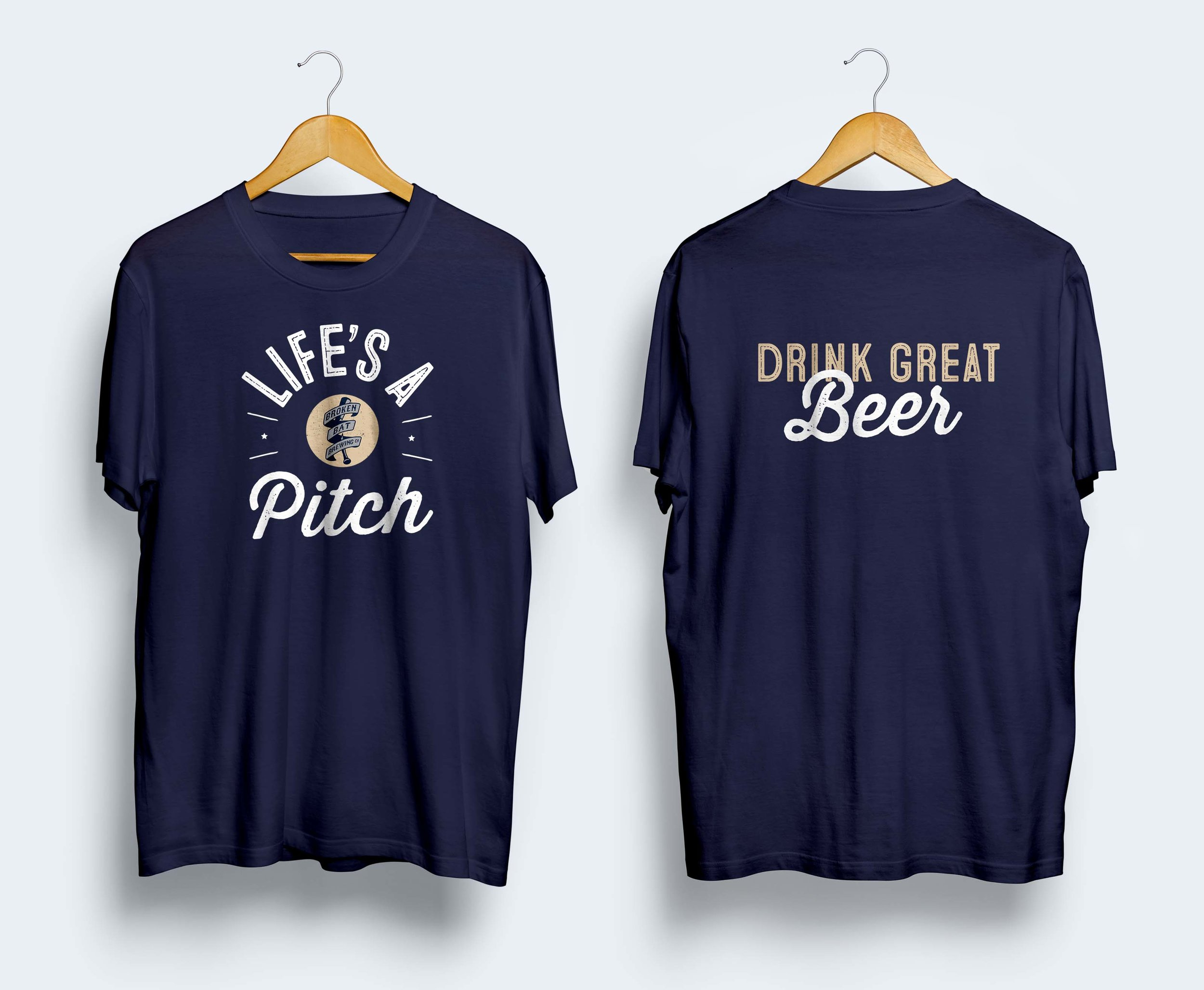 Broken Bat Brewing Co.  T-shirt Design