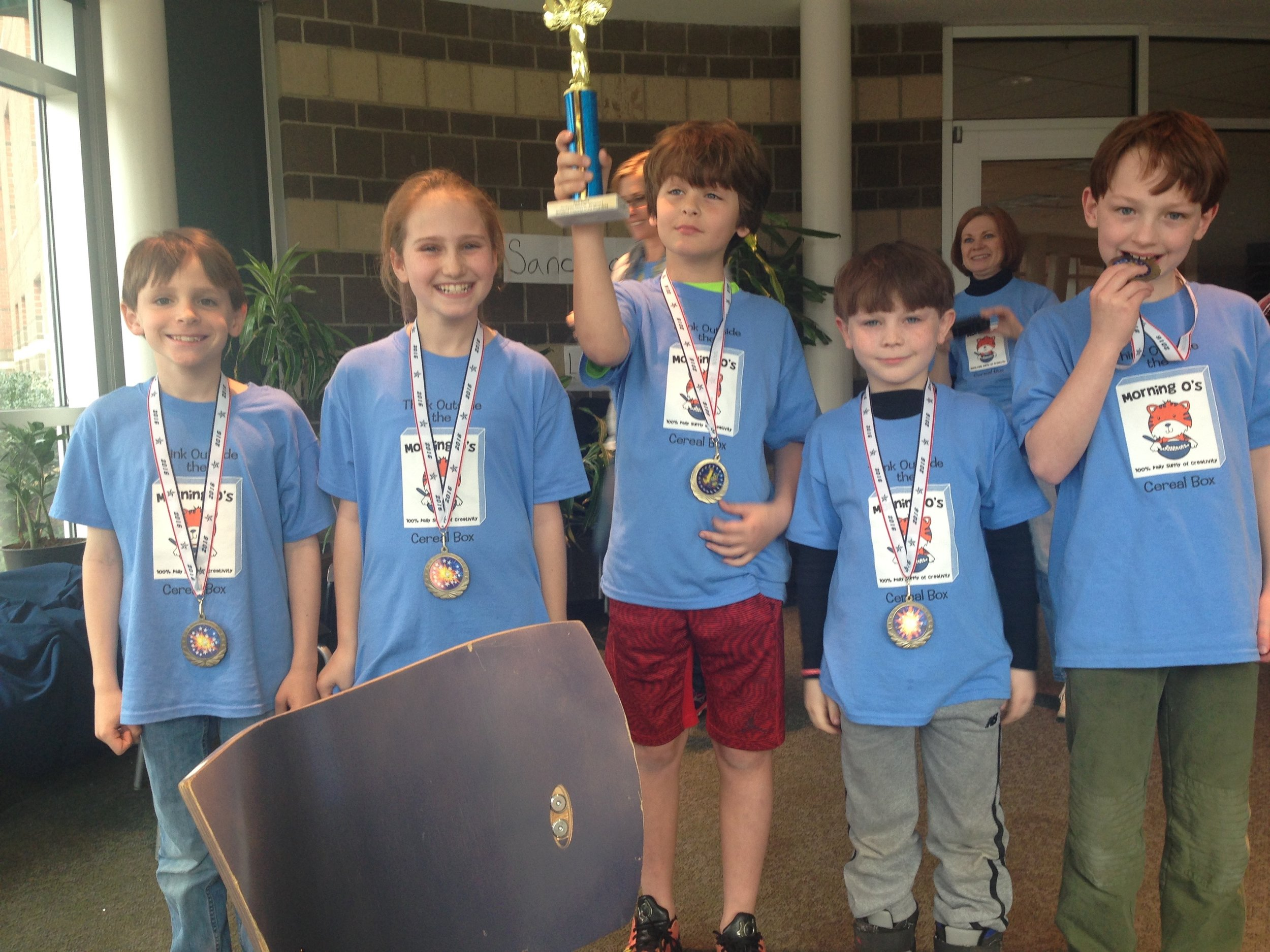 """Team """"Snap, Crackle, Pop"""": 2016 Wood Acres Division I team placed FIRST at the Maryland State Competition"""
