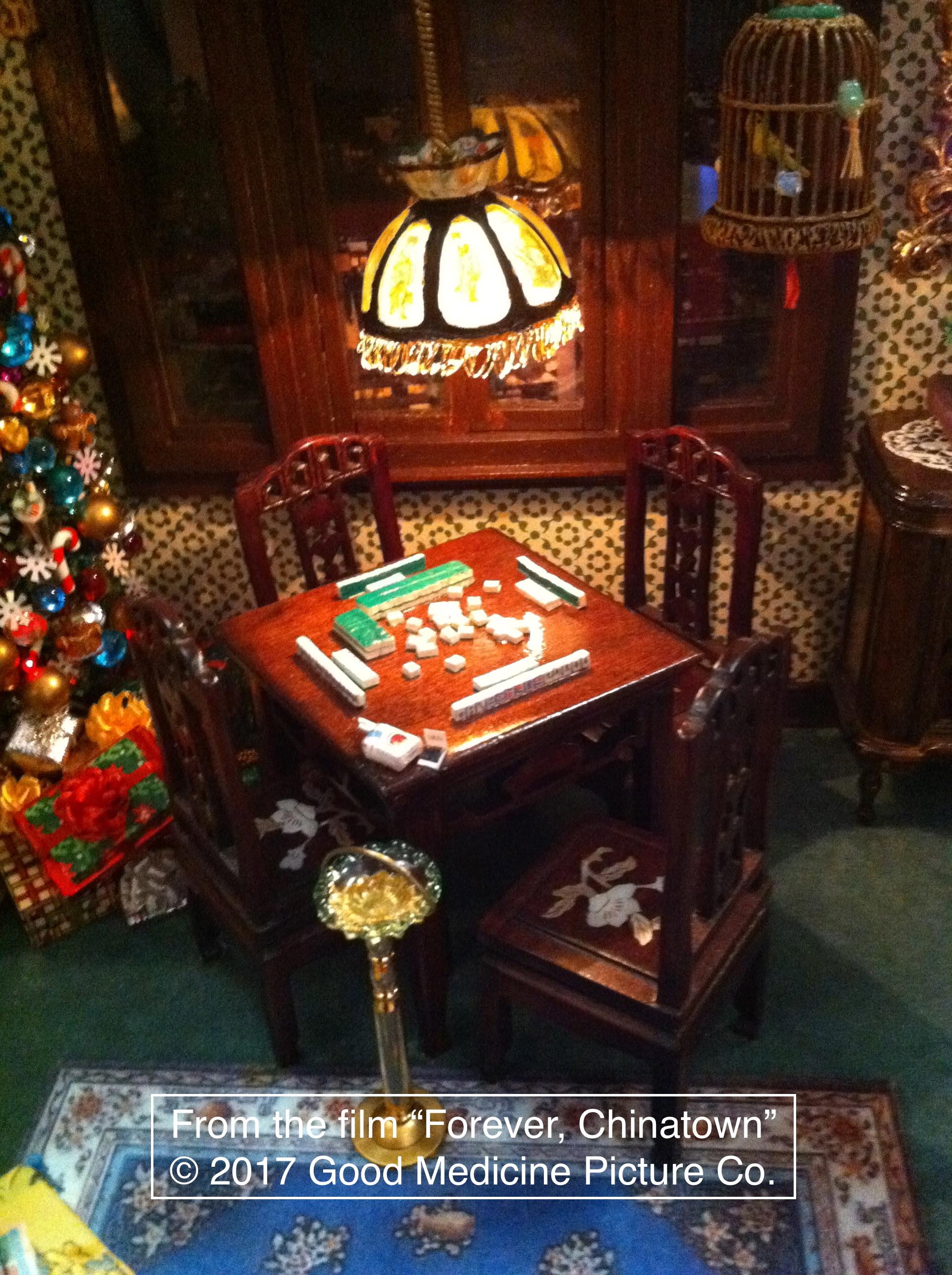 The Living Room mahjong table.