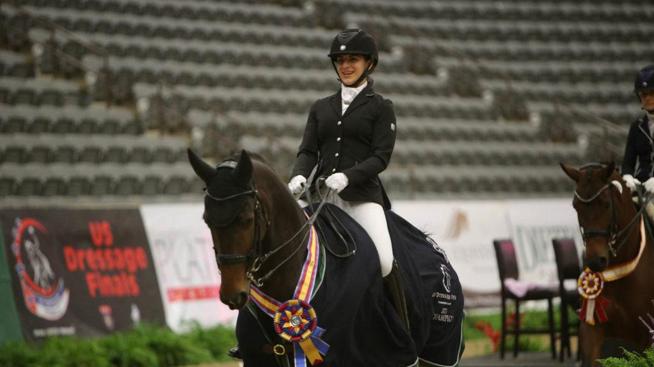 Maia Barnes / Benvica / 69.889, Fourth Level Adult Amateur champion