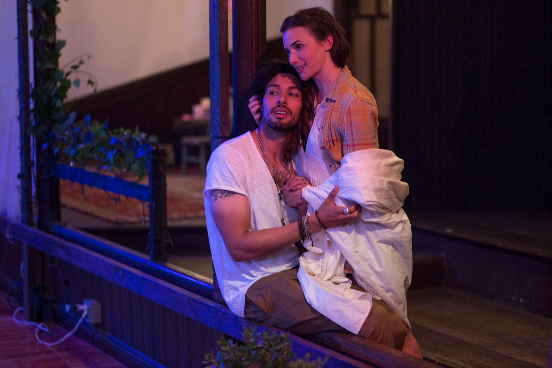 Drew Reginald Watkins as Romeo and Mairin Lee as Juliet