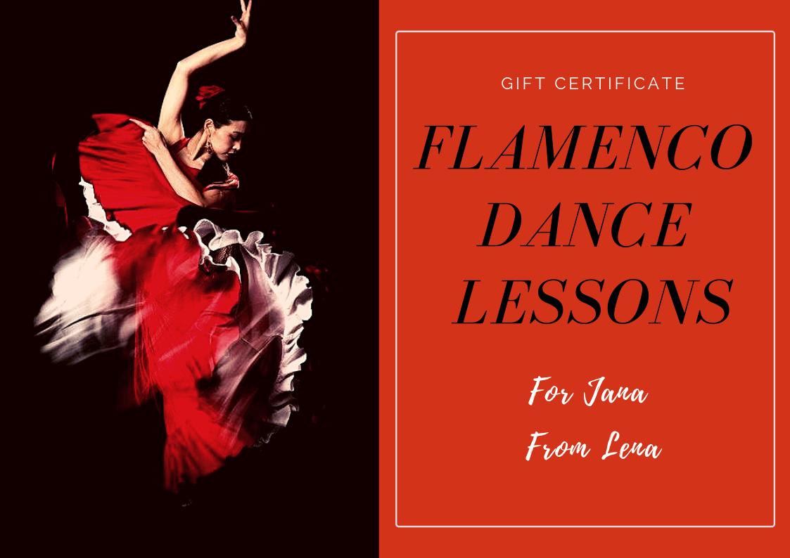 flamenco dance gift certificate
