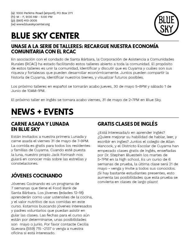 Mayo - Julio / May - July 2019     Español    /    English