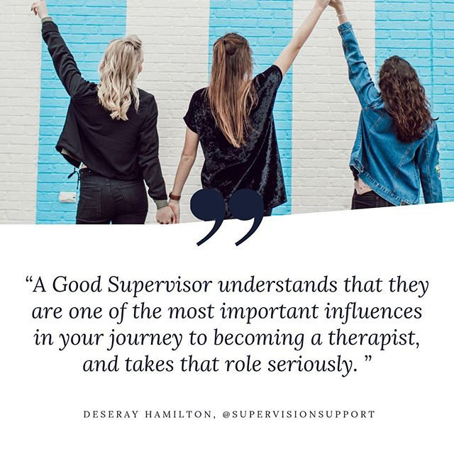 🗣TAG AN AWESOME SUPERVISOR TO THIS POST! —-✨ I had the unfortunate experience of having a not so awesome supervisor. The lesson learned here was that, this is an investment in to my future so choosing the right supervisor for me will make or break my supervision journey! There are some amazing supervisors out there and I want to ensure we highlight how they are mentoring and guiding new clinicians on how to enter the field with skills, integrity, and commitment!—-✨✨✨ What makes a god supervisor? And if you have one (or know one) tag them in this post 🙌🏿