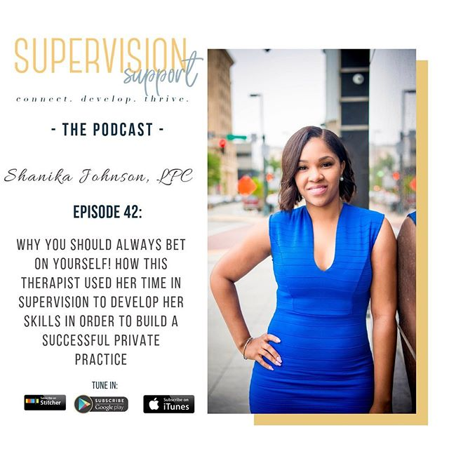 🎙Podcast Tuesday!!! @iamsnicole shares her journey towards licensure and how she used that time to focus on developing her skills as a therapist. Although she wanted to jump right into private practice while in supervision, her supervisor encouraged her to focus solely on developing her craft! Once she was licensed, she took the leap, rented a space without... [read more on the site]. ——— Which do you think is better? Building a practice while in supervision or wait to be licensed? COMMENT BELOW