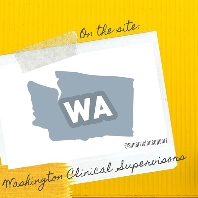 So you know we're a directory right? We have clinical supervisors in 26 states and growing! This week, we highlight our supervisors in the state of #washington. If you know a dope supervisor in Washington state, TAG THEM IN THIS POST!