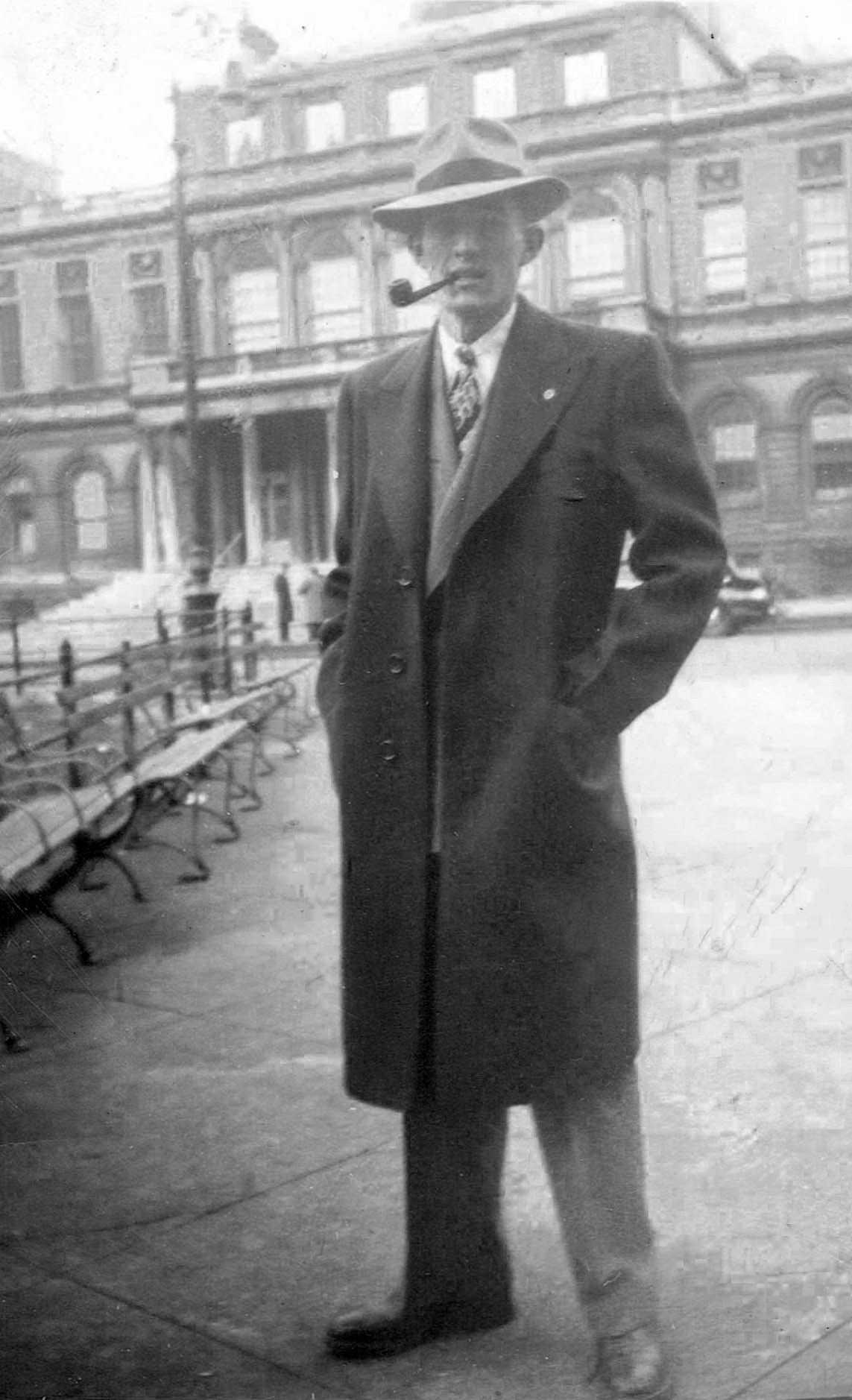 Sixteen-year-old William, dressed in the first fine clothes he ever purchased.