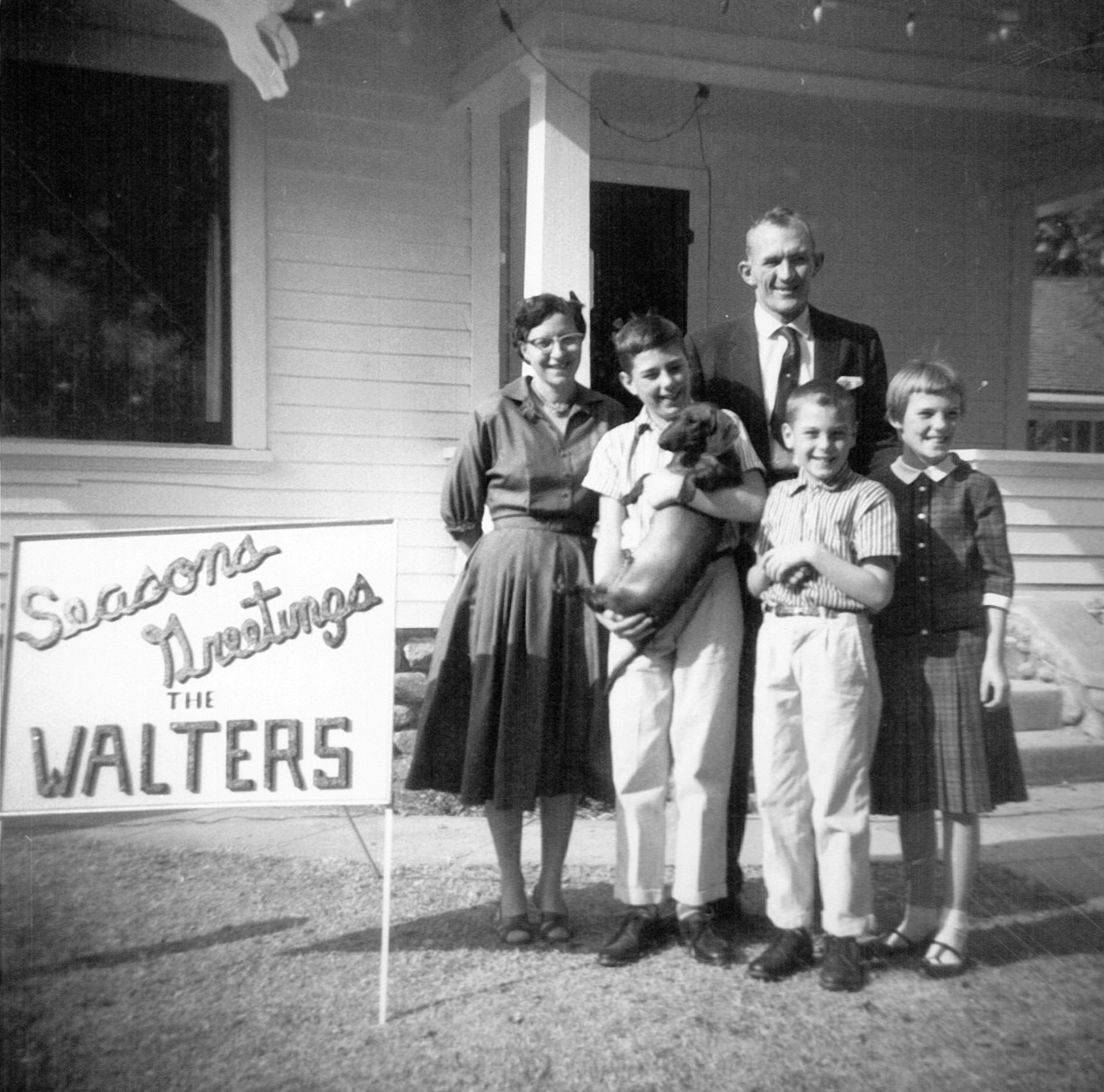 Willie, Jerry, and Dorothea with their parents in Upland, California, 1959.