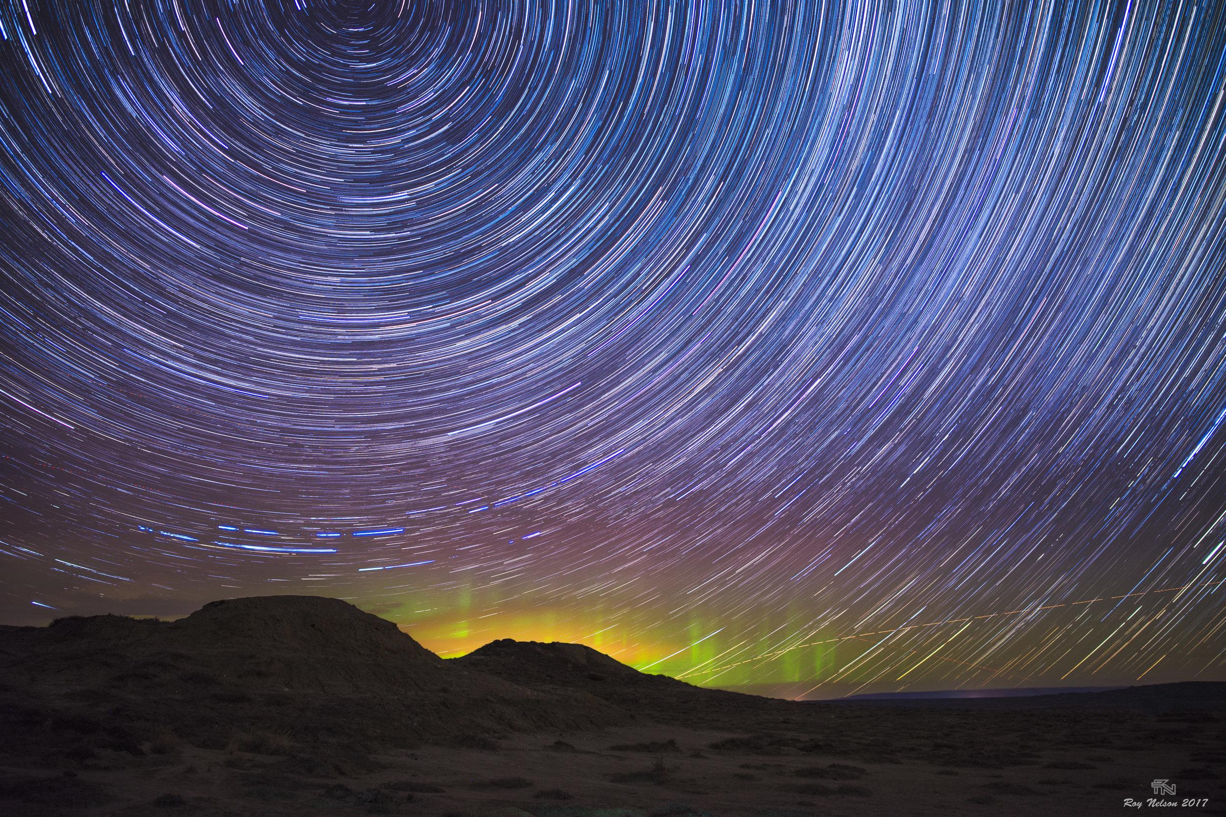 'Trailing Stars, Northern Lights'