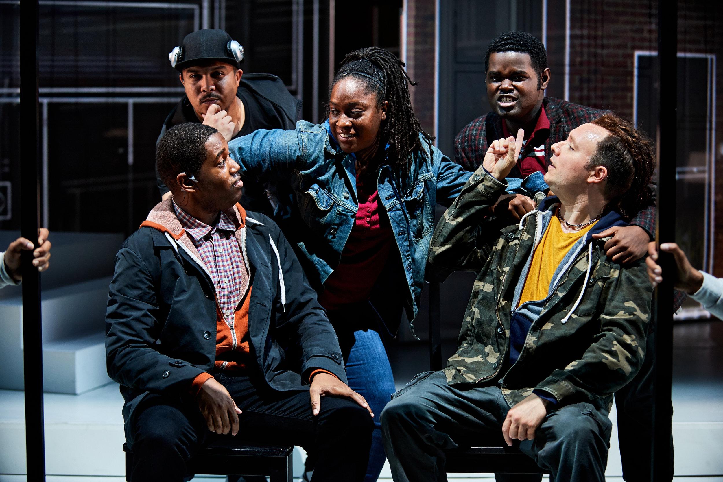 The cast from top left: John Henry (Aubrey Allicock), Un/Sung (Lauren Whitehead), John Blue (John Holiday), John Little (Daniel Shirley) and John Mack (Adam Richardson)