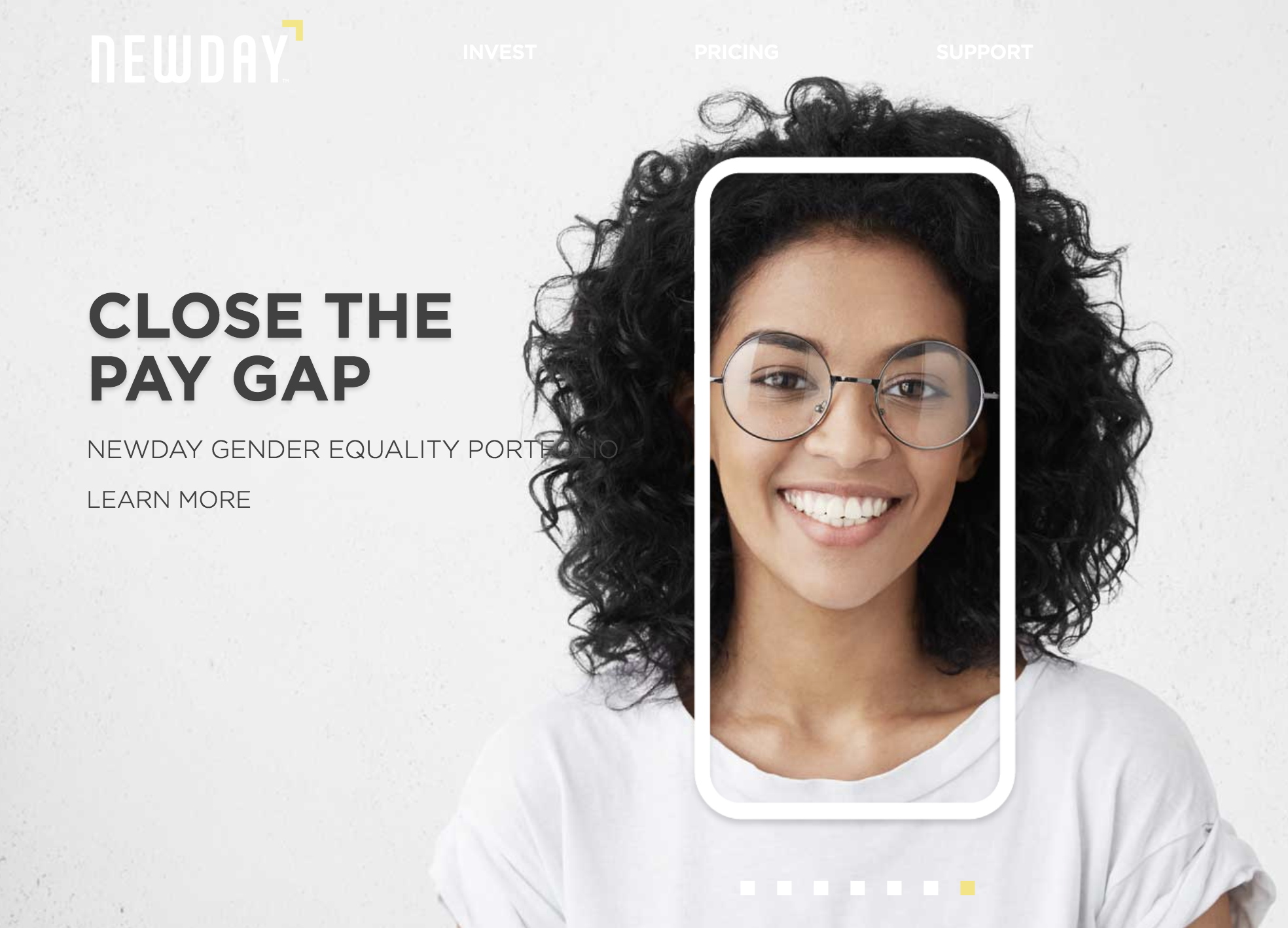 NewDay is an Impact Investing platform that launched this month. Invest in one of six impact portfolios, including Gender Equity.