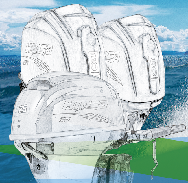 Outboard Motors - Our motors are designed, built and tested in Hangzhou, China to the highest quality specifications. Hidea offers 4-stroke carbureted and Electronic Fuel Injected (EFI) models ranging from 2.5 to 60 horsepower.