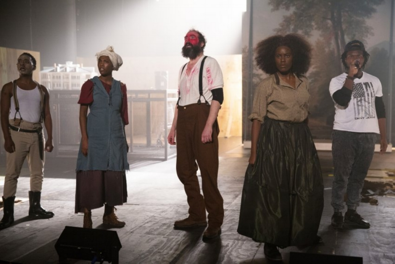 - Photo from The Wilma Theater's 2016 production of AN OCTOROON, which Nell collaborated on as Dramaturg. Photo Credit: Alexander Iziliaev