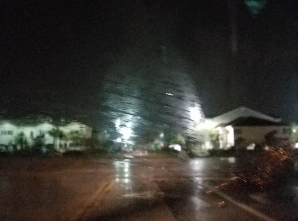 Leaving the house, rain.