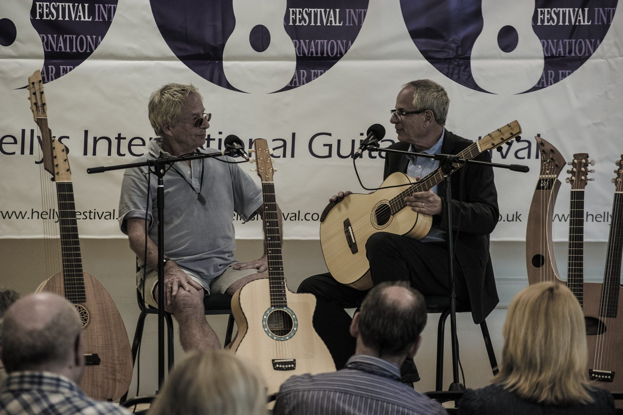 With Kif Wood, master luthier, Hellys Guitar Festival